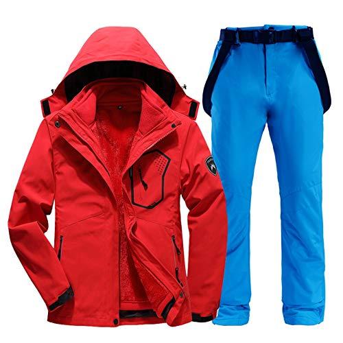 NYKK Traje de Esquiar Ski Juego de Las Mujeres 2 en 1 Estación de Chaquetas y Pantalones for Mujeres Calientes Impermeables a Prueba de Viento Trajes de esquí y Snowboard Ropa de Nieve