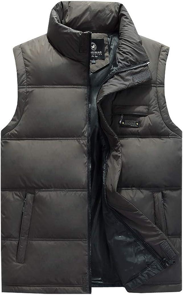 Only Faith Men Plus Size Thicken Down Vest Lightweight Active Winter Warm Gilet