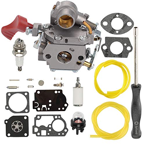 Butom 545008042 545189502 Carburetor + RB-168 Carb Repair Rebuild Kit for Zama C1M-W44 Poulan PP133 Pro PP333 PP338PT Craftsman 358791170 358791140 358795920 Trimmer 33cc Carb with Adjustment Tool