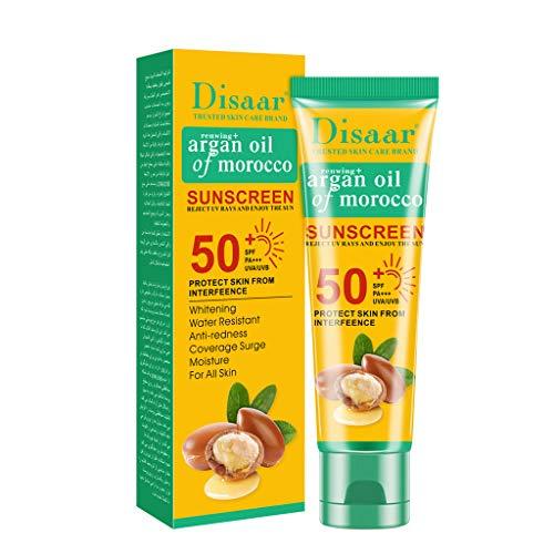 Der umweltfreundliche Sonnenschutz Allergy Sensitive Skin Sun Lotion LSF50 Feuchtigkeitsspendende für Allergiker Gegen Hautirritationen Wasserfeste Haut 50g (Marokkanischer Argan)