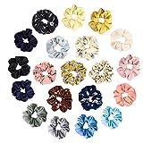 Viccess 20 Piezas Scrunchies Gasa,Scrunchies de Pelo Gomas de Pelo Scrunchies Multicolor de Gasa Accesorios para el Cabello