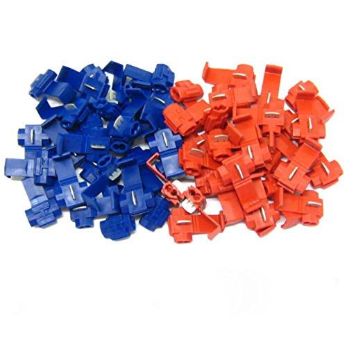 Sedeta Scotchlocks Blau Rot 50Pcs Scotchlock Schnappverschluss Zum parallelen Spleißen oder Verdrahten