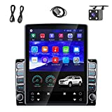 Android Double Din Car Radio Stereo GPS 9.7' Vertical Touch Screen Navigation Head Unit Built-in WiFi Bluetooth FM Support DVR Backup Camera Input & Mirror Link for iOS/Android Phones +Backup Camera