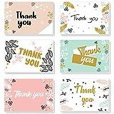 ProCase Tarjetas Agradecimiento [48 uds.], 8 Diseños con sobre a Juego, 4'×6' Tarjetas de Felicitación En Blanco para Acontecimiento, Boda, Fiesta, Cumpleaños, Aniversario