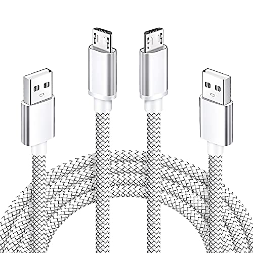 Micro USB Charger Cable 2Pack 6ft Android Fast Charger Cord for Samsung Galaxy S7 S6 Plus Edge Active J7 Crown/Star/Prime/Sky Pro/Refine/Pro/NeoJ3 J7V J3V J5 J6 J2 Note 5,Tab 3 4 A E S S2 LG G3 G4