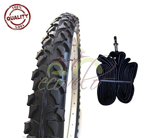 EBB16MAD 1 COPERTONE Nero + 1 Camera d'Aria 16 X 1.75 (44-305) MTB Bicicletta Mountain Bike