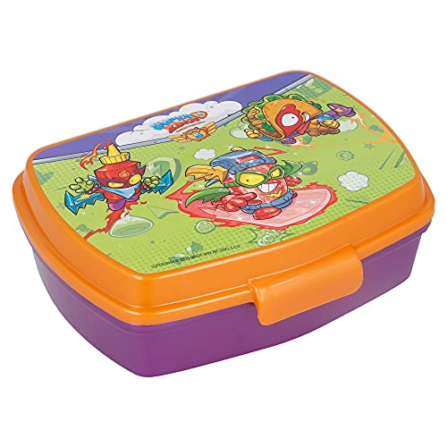 | Super Zings | Sandwichera Para Niños Decorada - Fiambrera Infantil | Caja Para El Almuerzo Y Porta Merienda Para Colegio -...
