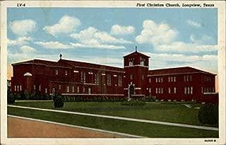 First Christian Church Longview, Texas Original Vintage Postcard