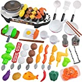Arkmiido Kids Play Kitchen Set Toys – Pretend Play Toy Kitchen - Toddler Kitchen Set BBQ Play Set 69pcs