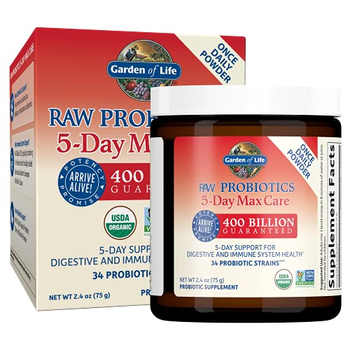 Garden Of Life Polvere Di Probiotici Grezzi, Banana - 80 g