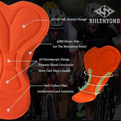 X-Labor Damen Radtrikot Set Schnell Trockend Radtrikot Kurzarm + Radhose mit Sitzpolster Fahrradbekleidung Motiv-A 2XL - 5