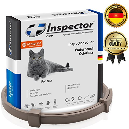 Flea & Worm Collar for Cats - Flea Control and Tick Treatment - Better than Oral...