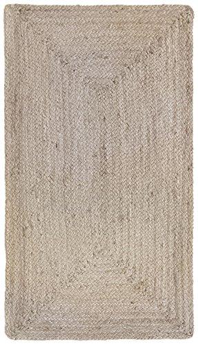 HAMID Alfombra Yute Alhambra Color Plata- Alfombra 100% Fibra de Yute (Plata, 60x110cm)
