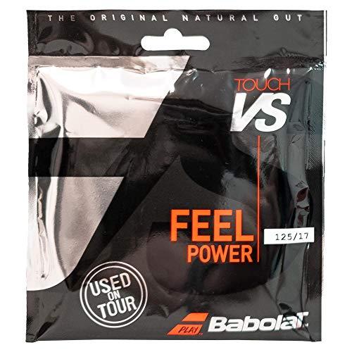 Babolat - Tennissaite - Saiten-Set - Touch VS - Feel Power 125/17 - Naturdarm - 12m (Set) < 1.25 mm