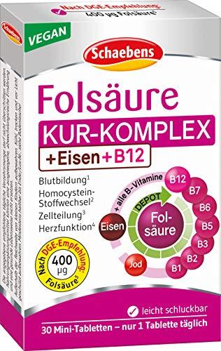 Schaebens Folsäure und alle B-Vitamine, 1er Pack (1 x 30 Stück)
