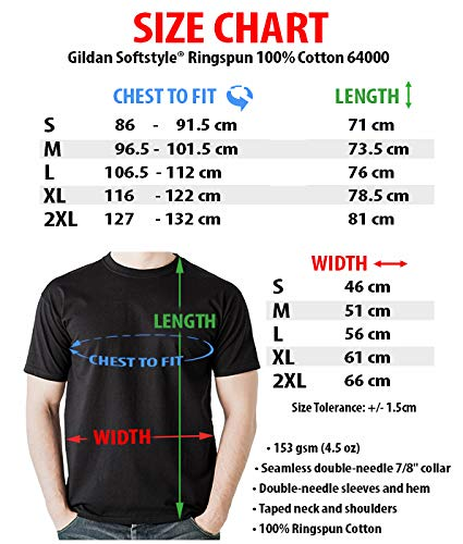 Gibson Les Paul Guitarra Camiseta Música tee Patentarar (M, Negro)