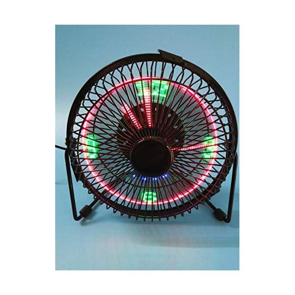 RedAlphabet-Iron-Art-USB-pequeo-Ventilador-El-Nuevo-Reloj-de-Temperatura-6-Pulgadas-Porttil-Resplandor-Led-Mini-Ventilador-de-Escritorio-True-Time