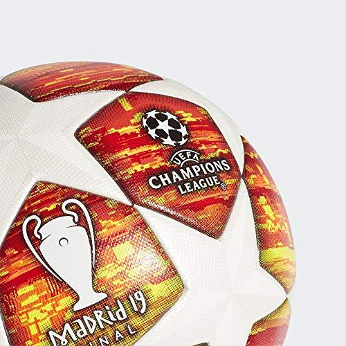 Adidas Finale M Omb Ball, pallone da calcio, bianco/Active Scarlet/Solar Red, 5