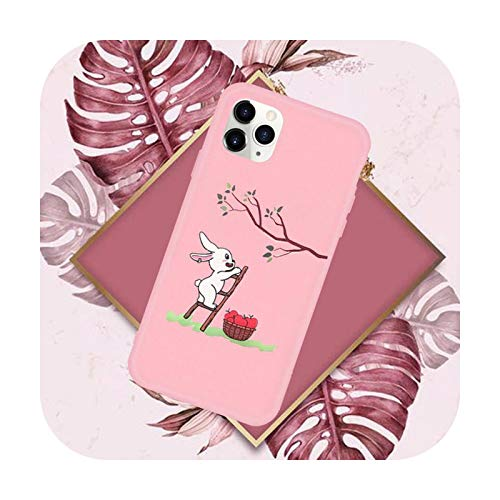 Funda creativa a prueba de golpes lindo teléfono rosa caramelo color para iPhone 11 12 Mini pro XS MAX 8 7 6 6S Plus X SE 2020 XR-a12-iPhone11