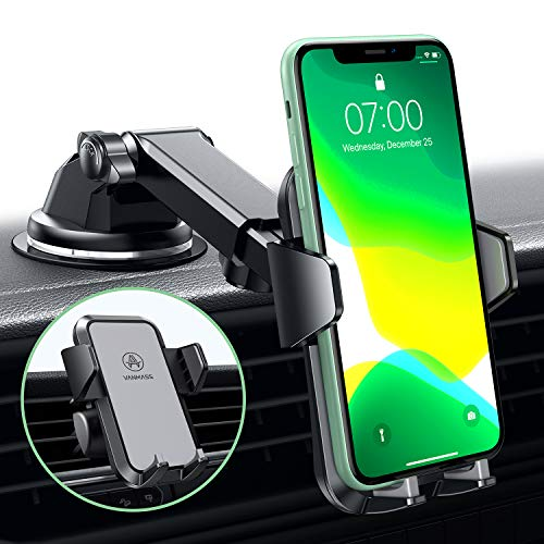 VANMASS Handyhalterung Auto Handyhalter fürs Auto Lüftung & Saugnapf Halterung 3 in 1 Smartphone Halterung KFZ 100{154ee466626b594b657fd87cc3d455722b2393042c2cc1b0ec10a230aa4ddcc1} Silikon Schützt Universal für alle 4-7 Zoll Handys wie iPhone Samsung Huawei LG