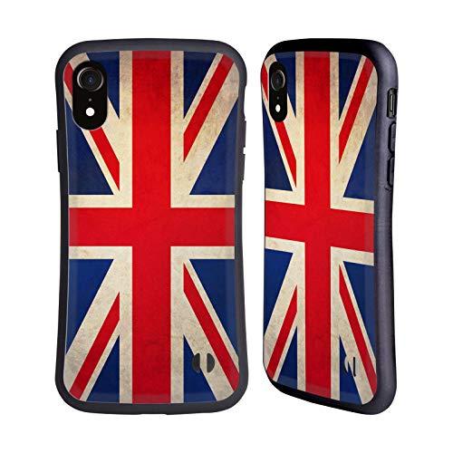 Head Case Designs Británicos De Gran Bretaña Banderas Vintage Carcasa híbrida Compatible con Apple iPhone XR