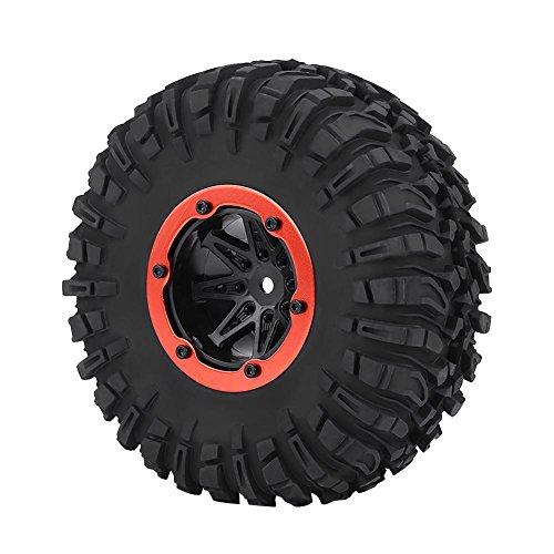 Dilwe Neumático del Coche 1/10 RC, Neumáticos Rueda del Coche Crawler RC para 1/10 RC Off-Road Car Crawler Truck