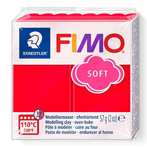 FIMO 8020 - Pasta de modelar, color rojo indio, 56 gr