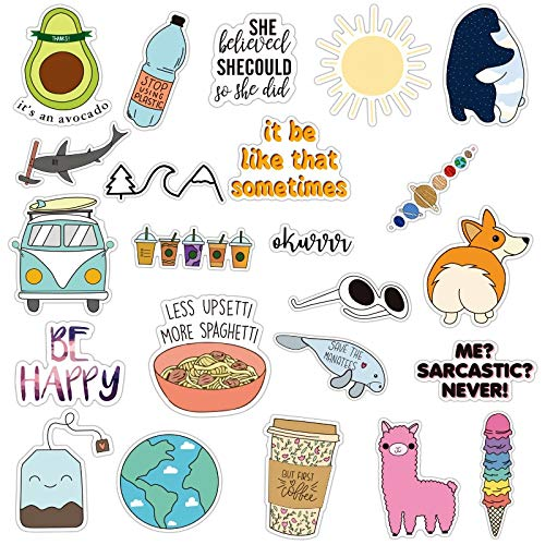 Girls Stickers Big For Water Bottles,hydro Flask,teens, Kids, Luggage, Skateboards Laptop Cartoon Avocado Stickers 25 Pack