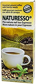 Naturesso Gourmet Organic (European Certification) Italian Ground Coffee with Hemp Seeds - Made in Italy, 8.8oz Bag