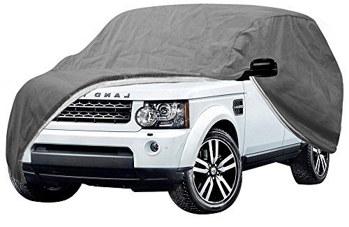 OxGord Signature Auto Cover - 100 Water-Proof 5 Layers - True Mastepiece - Ready-Fit Semi Glove Fit for SUV, Van Truck - Fits up to 206 Inches