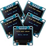 5 Piece 0.96 Inch OLED Module 12864 128x64 Yellow Blue SSD1306 Driver I2C IIC Serial Self-Luminous Display Board Compatible with Arduino Raspberry PI