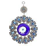 FOLOSAFENAR Türkisches Glasamulett, Wandbehang mit türkischem bösen Blick, mit farbigem Glas, wunderschöner Blauer Farbe, exquisiter Handwerkskunst, elegant und charmant, für Wohnkultur usw.