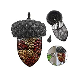LFDHSF Cute Automatic Birds Feeder Outdoor Dumpling Grease Ball Outdoor Hanging Food Dispenser For Bird, Squirrels Universal For Four Seasons
