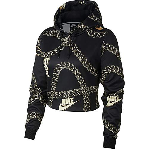 Nike Sportswear Icon Clash Women's Crop Top Hoodie CJ6305-010 Size XS