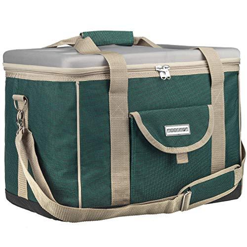 anndora Kühltasche XL grün beige 40 Liter - Kühlbox Isoliertasche Picknicktasche