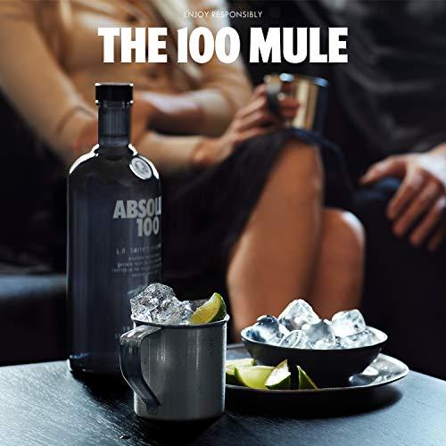 Absolut 100 / 50% Vol. Edel Wodka in eleganter schwarzer Flasche / Luxuriöses Geschmackserlebnis / 1 x 1 L - 5