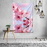 春の空のタペストリー壁掛けアートタペストリーホームリビングルーム寮の装飾60X40インチ