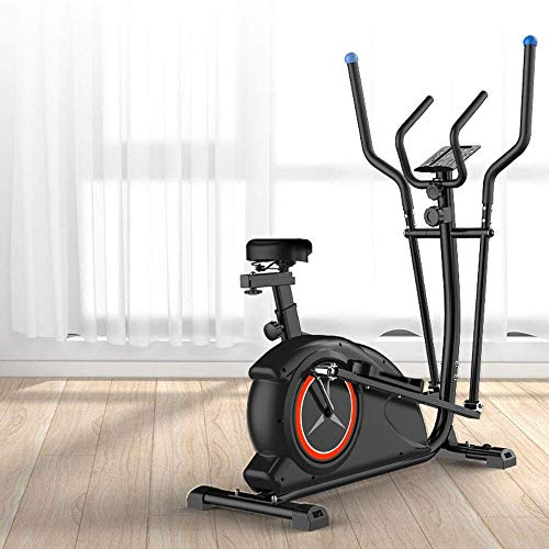 Máquina elíptica para el hogar, máquina de entrenamiento cruzado, cochecito espacial Bicicleta estática Control magnético Silencio Equipo de ejercicios para el hogar Bicicleta giratoria, Equipo para