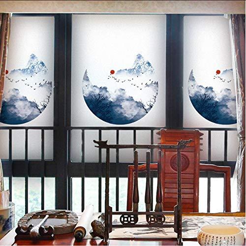 Djkaa glasfolie mat privacy glasfolie polyethyleen Home Decor raamdecoratie 2019 inkt nieuwe stijl