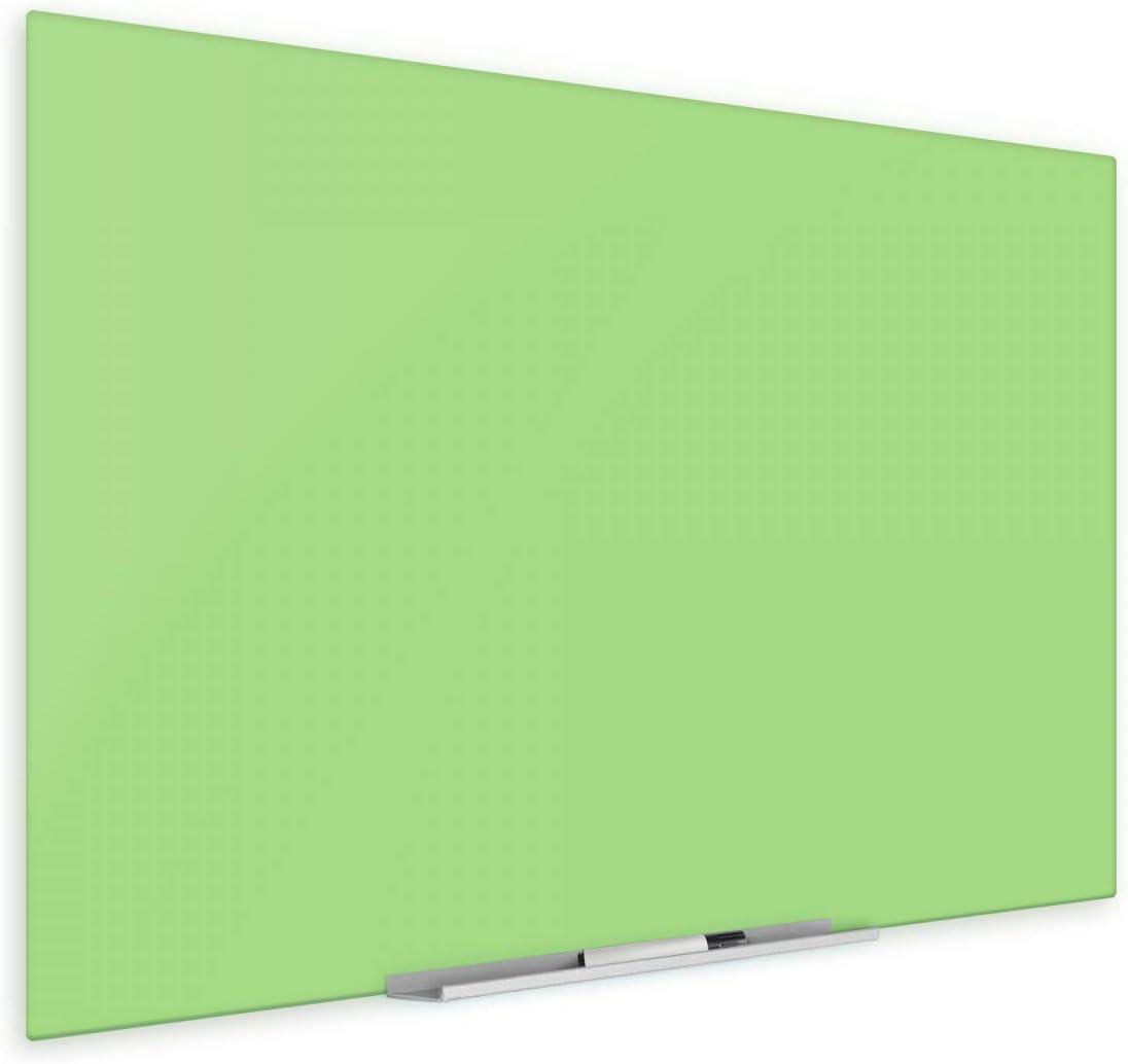 48 x Max 89% OFF 96 Inch Frameless Light Green Boar Sacramento Mall Magnetic Dry-Erase Glass
