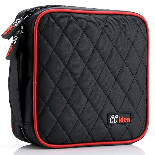 CCidea 40 Capacity CD/DVD Case Holder Portable Disc Wallet Storage Binder Nylon Cd Bag (Black) Specials