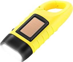 Simpeak LED-Zaklamp, met de hand Gebogen Solar Carabiner-Zaklamp compatible met Kamperen/Buiten Klimmen/Wandelen - Geel