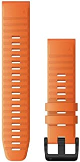 comprar comparacion Garmin QuickFit 26 - Correa de silicona para reloj, color naranja