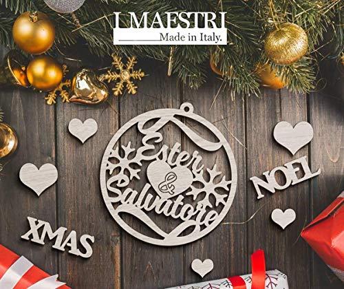 Regalo Di Natale Personalizzato - Decorazioni Natalizie Con NOMI COPPIA - I MAESTRI
