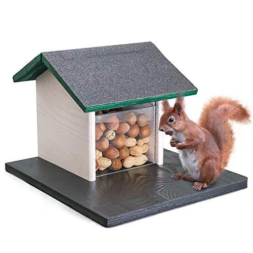 Holznager Wetterfestes Eichhörnchen-Futterhaus zum aufhängen - Handmade aus eigener Produktion im Schwarzwald - Made in Germany