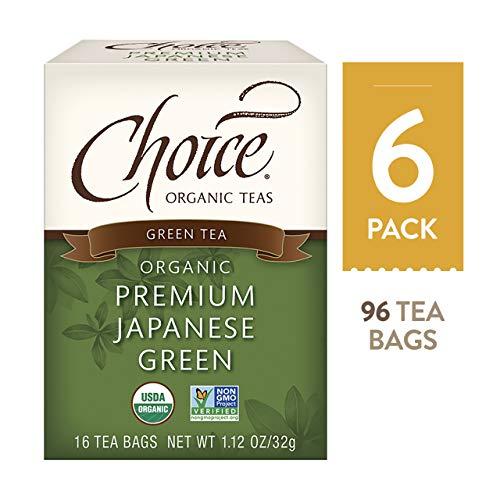 Choice Organic Teas - Premium Japanese Green Tea - Organic Green Tea - 6 Pack,...
