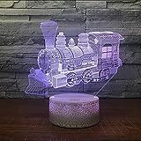 Mmzki Niños Que Encienden El Juguete Luces 3D Luces De Tren Nocturno Creativo Nueva Electrónica De Lujo Venta Al Por Mayor Precioso Cambio De Color Lámpara 3D