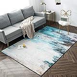 Yurun Hochflor Teppich Wohnzimmer Shaggy, Anti Rutsch Flauschig Weiche, mit 8 Teppich Ecke rutschfest für Wohnzimmer Preishammer, (130 x 190cm)