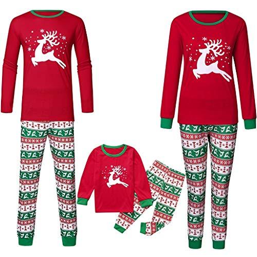 Weihnachten Familie Outfit Set Matching Lange Ärmel Bluse + Plaid Lange Hosen Pyjama Set Xmas Schlafanzüge Nachtwäsche Feiertag Suit für Damen Mädchen Jungen