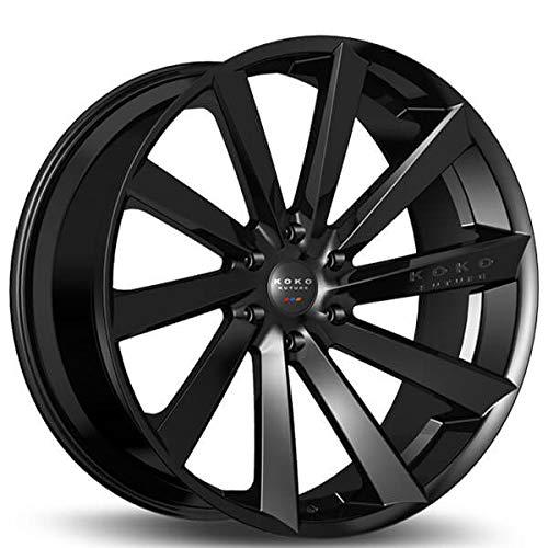 Koko Kuture Kapan – 20 Inch Rims – Set of 4 Gloss Black Wheels – Made for Sports Racing Cars – Fits Challenger, Charger, Mustang, Camaro, Cadillac and More (20x9) – Rines Para Carros – Car Rim Wheel